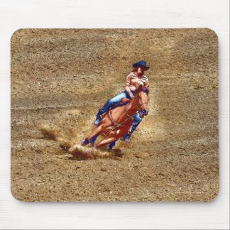 Barrel-Racing Rodeo Cowgirl Designer #Gift Mouse Pad