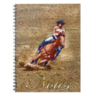 Barrel-Racing Rodeo Cowgirl Designer #Gift Notebook
