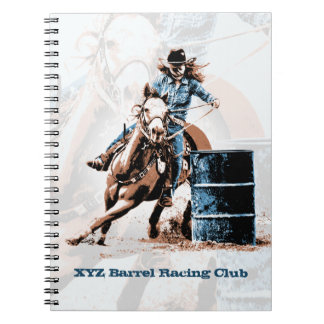 Barrel Racing Spiral Notebook