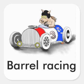 barrel racing square sticker