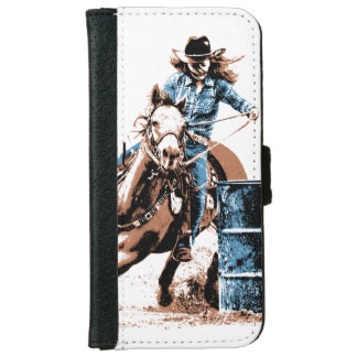Barrel Racing Wallet Phone Case For iPhone 6/6s