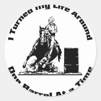 Barrel Rider Classic Round Sticker