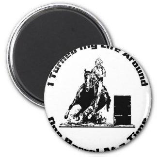Barrel Rider 2 Inch Round Magnet