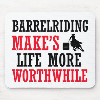 barrel-riding design mouse pad