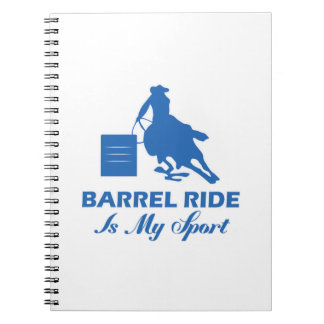 barrel-riding design spiral notebook
