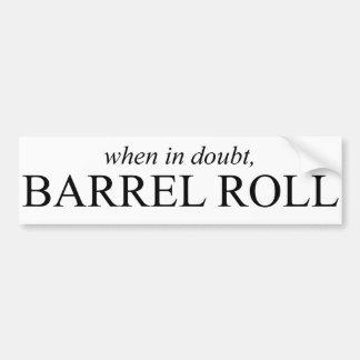 Barrel Roll 7 Bumper Sticker