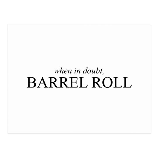 Barrel Roll 7 Postcard