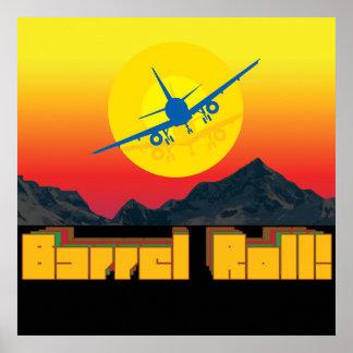 Barrel Roll Retro Canvas Print 1