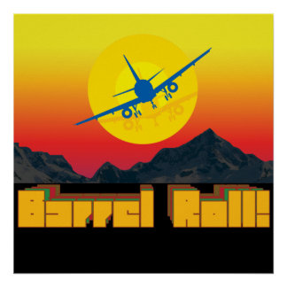 Barrel Roll Retro Poster 1