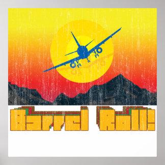 Barrel Roll Retro Poster 2
