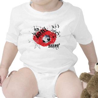 Barrel X Surf Grunge Design Baby Bodysuit