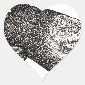 Barreleye Pegatina En Forma De Corazón
