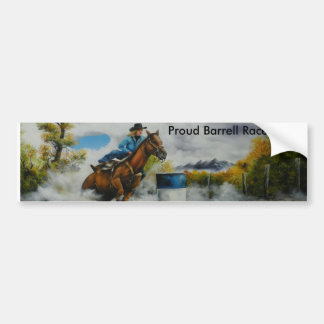 Barrell Racer Painting on Customizable Products Bumper Sticker
