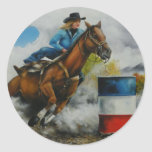 Barrell Racer Painting on Customizable Products Sticker
