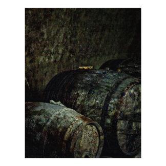 Barrels dark painterly letterhead