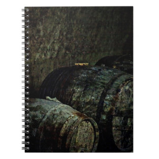 Barrels dark painterly spiral notebook