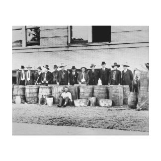 Barrels of Bootleg Liquor, 1922 Canvas Print