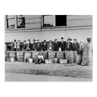 Barrels of Bootleg Liquor, 1922 Post Cards