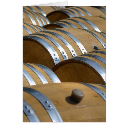 Barrels Of Wine Card