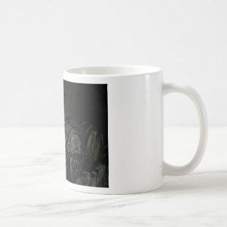 Barrels painterly oscuro taza básica blanca