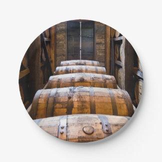 barrels paper plate