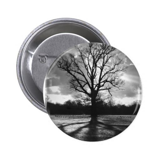 Barren Branches Tree 2 Inch Round Button
