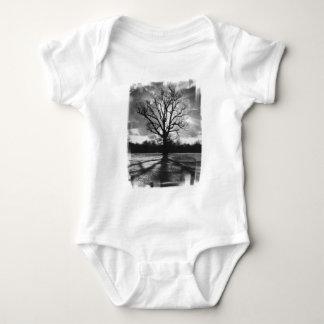 Barren Branches Tree Baby Bodysuit
