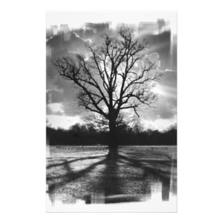 Barren Branches Tree Stationery