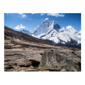 Barren Landscape and Snowy Mountains (Himalayas) Postcard