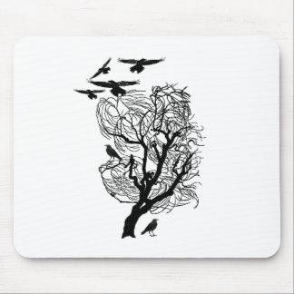 Barren Raven Crow Tree Mousepads