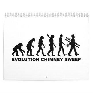 Barrendero de la chimenea de la evolución calendarios