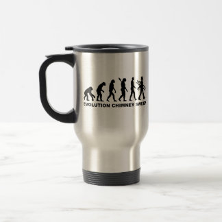 Barrendero de la chimenea de la evolución taza de café
