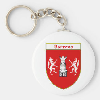 Barreno Coat of Arms/Family Crest Basic Round Button Keychain