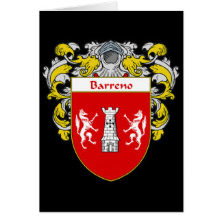 Barreno Coat of Arms (Mantled) Card