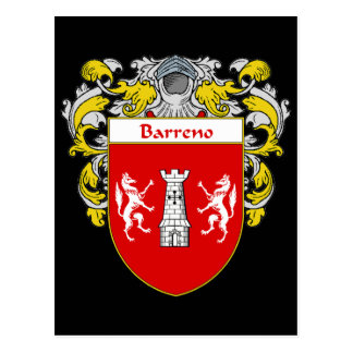 Barreno Coat of Arms (Mantled) Postcard