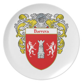 Barrera Coat of Arms/Family Crest Melamine Plate