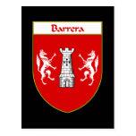 Barrera Coat of Arms Post Card