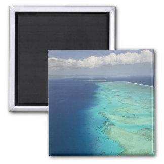 Barrera de arrecifes de Malolo de la isla de Malol Iman De Frigorífico