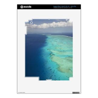 Barrera de arrecifes de Malolo de la isla de Malol Pegatina Skin Para iPad 3