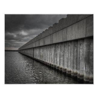 Barrera de la oleada de Borgne del lago Impresiones Fotográficas