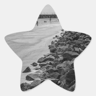 Barrera del mar de Georgia de la isla de Jekyl Pegatina En Forma De Estrella
