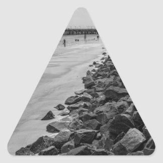 Barrera del mar de Georgia de la isla de Jekyl Pegatina Triangular