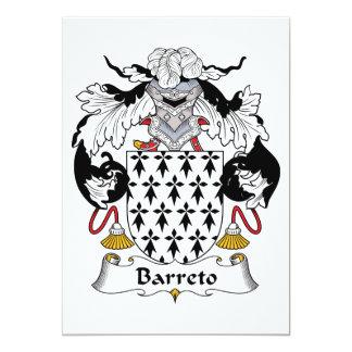 Barreto Family Crest Personalized Invitations