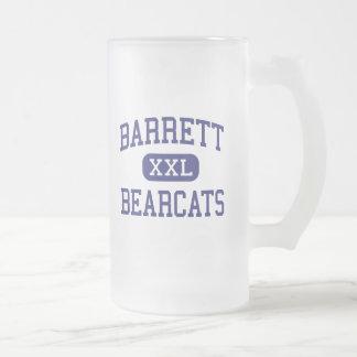 Barrett Bearcats Middle School Columbus Ohio Frosted Glass Beer Mug