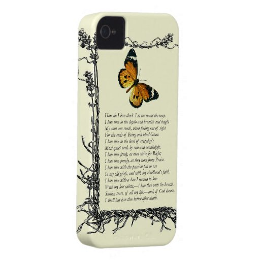 Barrett Browning, Sonnets from the Portuguese # 43 Case-Mate iPhone 4 Cases