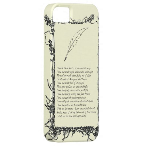 Barrett Browning, Sonnets from the Portuguese # 43 iPhone 5 Covers