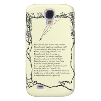Barrett Browning, Sonnets from the Portuguese # 43 Samsung Galaxy S4 Covers