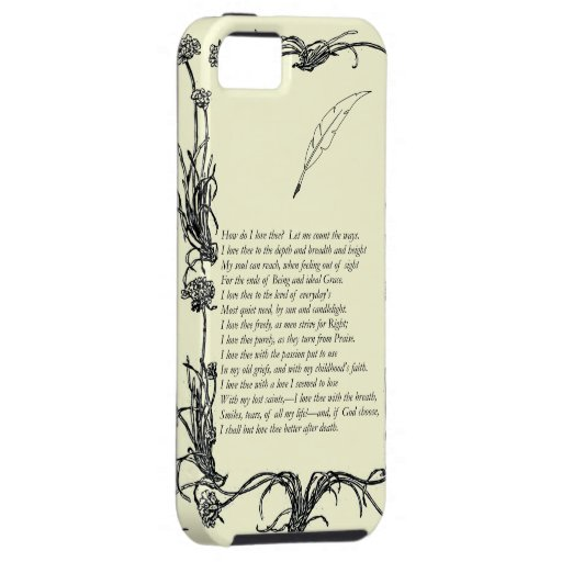 Barrett Browning, Sonnets from the Portuguese # 43 iPhone 5 Cover