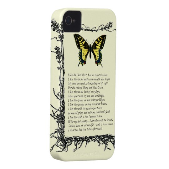 Barrett Browning, Sonnets from the Portuguese # 43 iPhone 4 Case