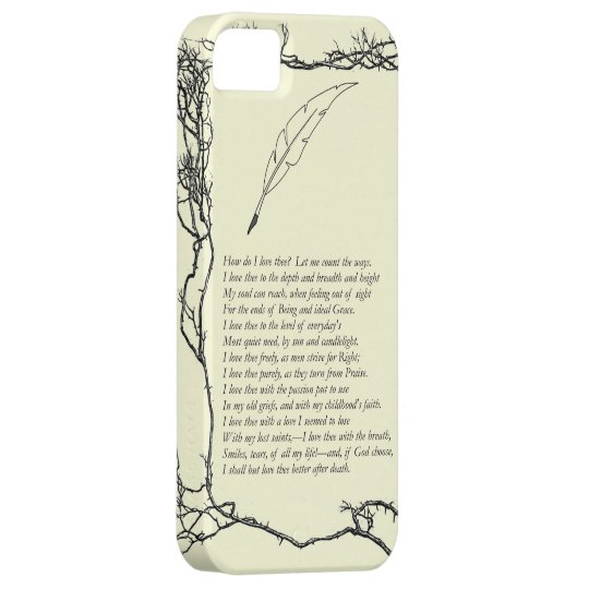 Barrett Browning, Sonnets from the Portuguese # 43 iPhone SE/5/5s Case